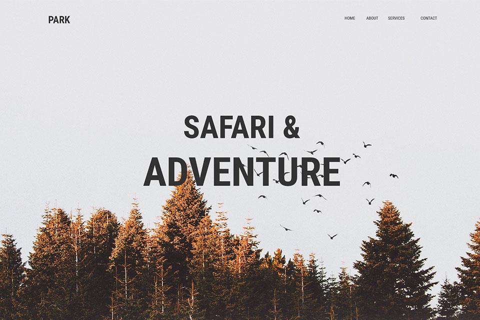 Safari Web Template