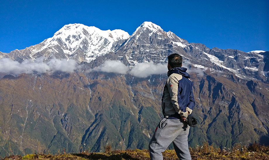 Mt. Annapurna south and Hiunchuli