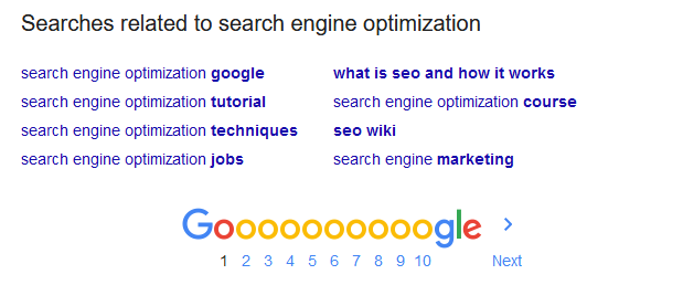 Keyword suggestion from Google Search pages